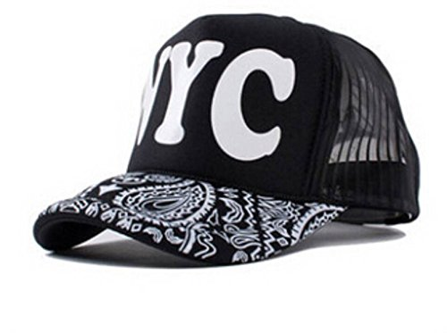 bebe7cb7904 Image Unavailable. Image not available for. Colour  FRIENDSKART Unisex Nyc  Half Net Cap (Black)
