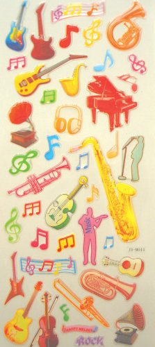 music-stickers-musical-instrument-pack-of-2