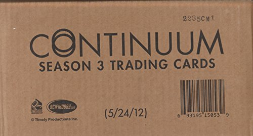 Continuum Season 3 Trading Cards - One (1) Factory Sealed Case - Has 12 Boxes