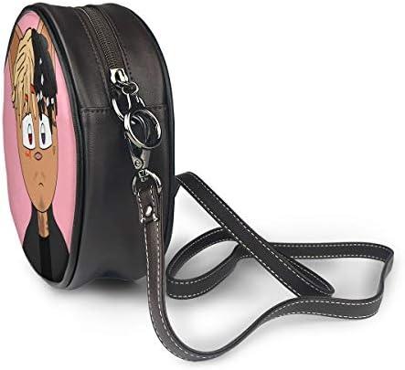 丸型ショルダーバッグ XXXTentacion PUレザー 小さめ 人気 取り外し可能 軽量 可愛い レディース ミニバッグ クロスボディバッグ