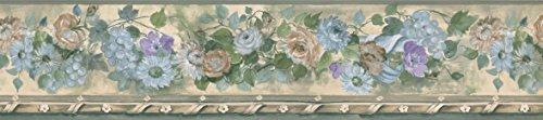 Blue Daisy Flower Wallpaper Border 76553 PP ()
