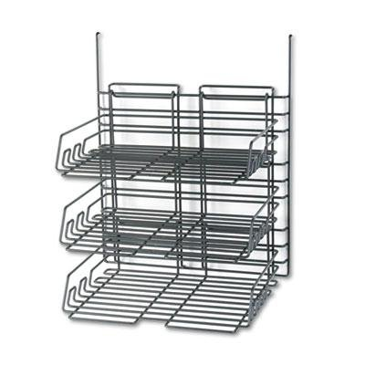 Safco - Panelmate Triple-Tray Organizer 13 1/2 X 17 1/4 Charcoal Gray ''Product Category: Desk Accessories & Workspace Organizers/Wall & Panel Organizers'' by Safco