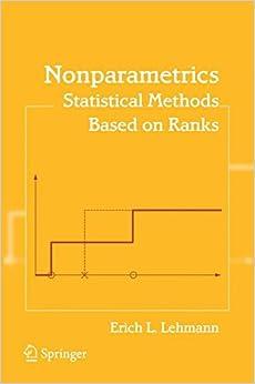 Book Nonparametrics: Statistical Methods Based on Ranks