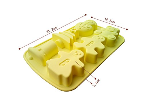Cake Decorating Silicone Chocolate Cake Mould Creative DIY Handmade Cupcake Moulds 6 Hole Christmas Series