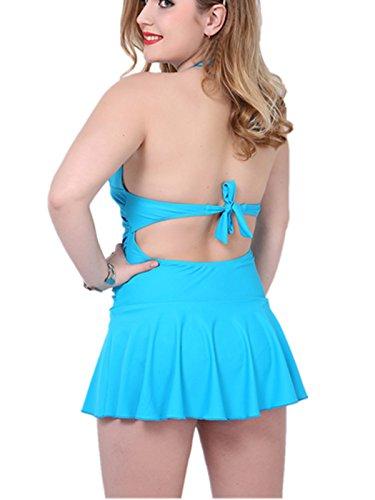 crazycatz - Traje de una pieza - para mujer azul claro