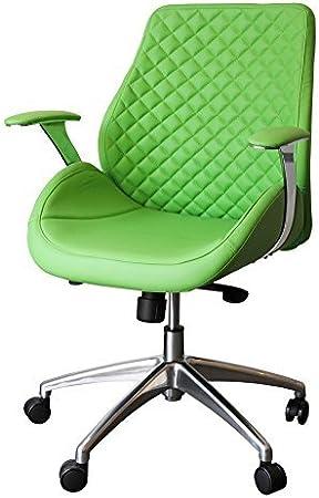 212626 Bürodrehstuhl Designer Drehstuhl Chefsessel PANTERA grün ClassicCarSeat