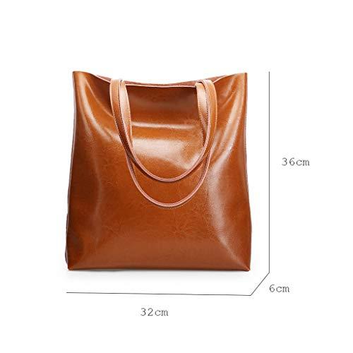 Sac Capacité PU Lxf20 Main Sac Brown Diagonale Grande Simple Mode Épaule Mode Dames À xdtdY4Sqw