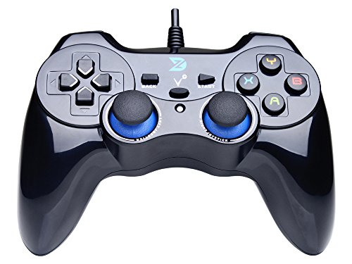 ZD-V+ USB Wired Gaming Controller Gamepad For PC/Laptop Computer(Windows XP/7/8/10) & PS3 & Android & Steam – [Black]