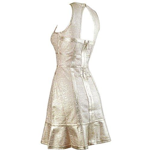 Kleid Gold 36 HLBCBG rot Damen rot 5XqCnxSpw