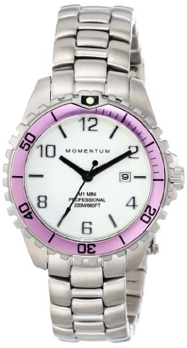 Momentum Women's 1M-DV07WR0 M1 Mini Analog Display Japanese Quartz Silver Watch