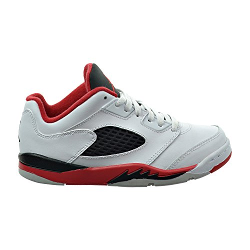 Jordan 5 Retro Low (PS) Little Kid's Shoes White/Fire Red/Black 314339-101 (1.5 M US) (Jordan Shoes For Boys Ps)