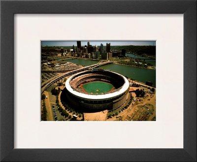 Pittsburgh – 3つ河川スタジアムFinal Season額入りアートポスター印刷byマイクスミス、14 x 12   B00LLX3G42