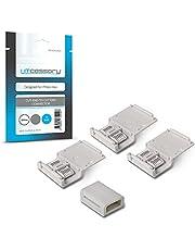 Litcessory Afgesneden naar Afgesneden Connector voor Philips Hue Lightstrip Plus (Pakket van 4, Wit - MIKRO 6-SPELD V4)