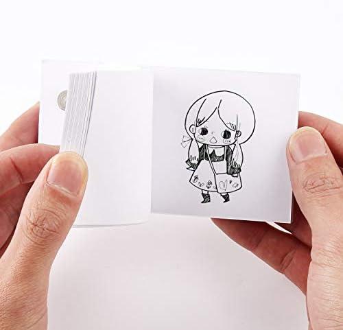 Dorhui フリップブック アニメーションペーパー 穴付き - 480枚 フリップブックペーパー ドローイングとトレース用 子供用 フリップブックペーパー ねじ付き ドローイングキット (4.5インチ x 2.5インチ)