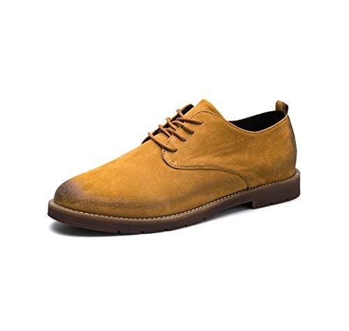 Printemps Et Automne Hommes Chaussures en Cuir Lacets Occasionnels Oxford Sauvage Bas R