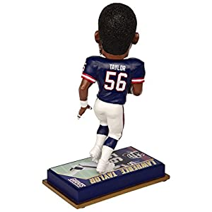 """NFL New York Giants Lawrence Taylor #56 Retired Player Bobble, 8"""", Team Color"""