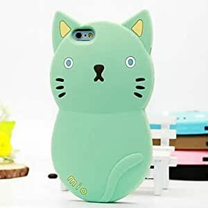 ZXC Meng Meng Cat Silicone Shell Cases for iPhone 6 Plus (Assorted Colors) , Gray