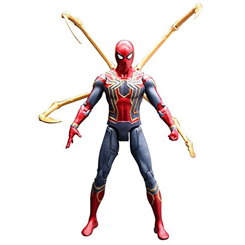 Rulercosplay Marvel Authorization Avengers 3 Iron Man Captain America Black Panther Action Figures 7 inches (Spider-Man)