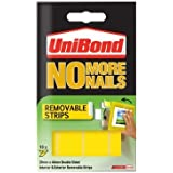 Unibond No More Nails Strip Ultra-strong Removable Translucent - Pack of 20
