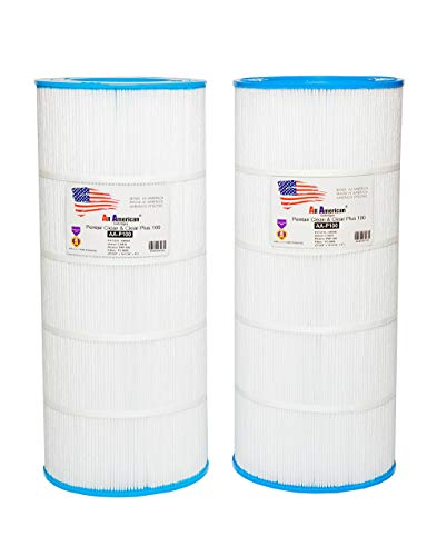 100 Pool - 2 Pack ALL AMERICAN AA-P100 replacement for Pentair Clean and Clear 100 R173215, 590542, Unicel C-9410, Pleatco PAP100, Filbur FC-0686, Swimming Pool Filter Cartridge