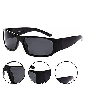 MLC Eyewear Sporty Wrap Around Sunglasses Titan Black