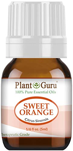(Sweet Orange Essential Oil 5 ml 100% Pure Undiluted Therapeutic Grade Citrus Sinensis, Cold Pressed from Fresh Orange Peel, Great for Aromatherapy Diffuser, Relaxation and Calming, Natural Cleaner.)
