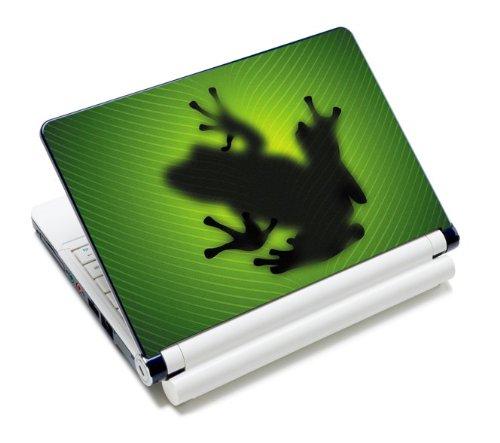MySleeveDesign Notebook Skin Aufkleber Folie Sticker für Geräte der Größe 10,2 Zoll / 11,6 - 12,1 Zoll / 13,3 Zoll / 14 Zoll / 15,4 - 15,6 Zoll mit VERSCH. DESIGNS - Frog