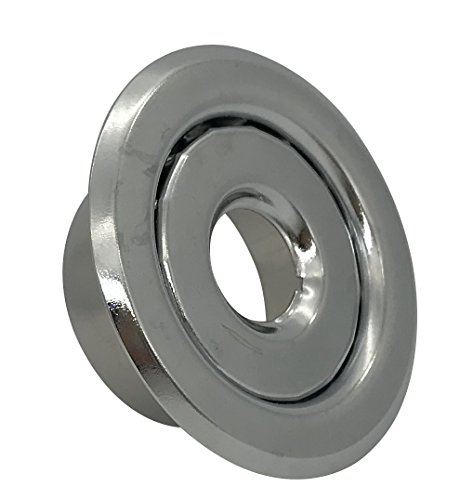 1//2 Recessed Two Piece Escutcheon 10 Pack Chrome