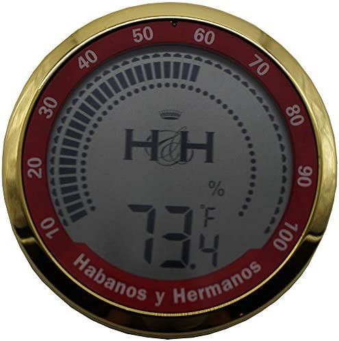 The Accuracy 2.0 - Digital Hygrometer/Thermometer - Silver Finish - Inside Diameter: 2 5/8 - Outside Diameter: 3 (Golden Finish)