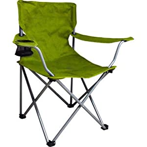 Camping Folding Arm Chair Is Of Superb Strength And Comfort (Green)