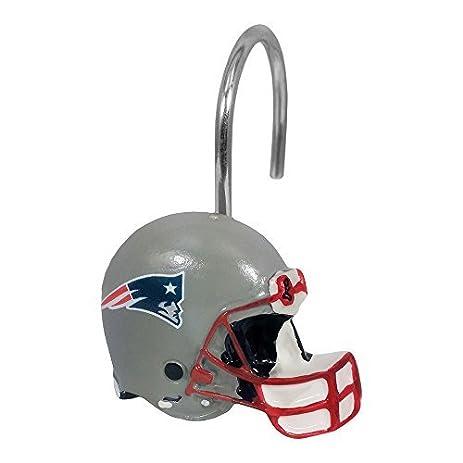 Northwest 1NFL942003076WMT NFL 942 Patriots Shower Curtain Rings New England Decorative Bath Collection