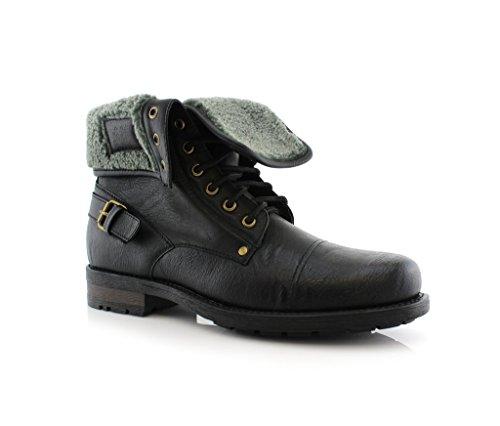 Polar Rev Menns 506 015 Militære Kaster Ned Ull Foret Bekjempe Stil Ørken  Ankel Boots Black
