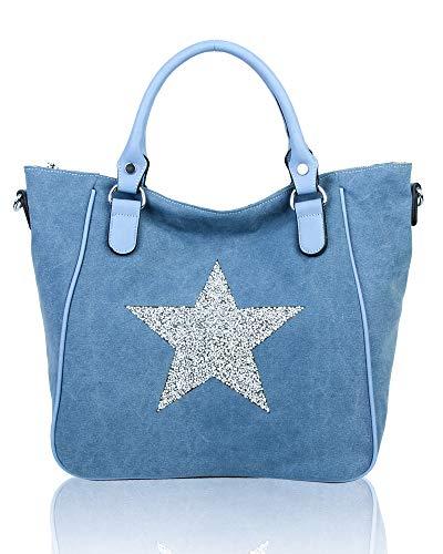 para al REDFOX hombro mujer Lona Bolso de Azul L x7wqCwBS