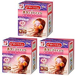 Kao MEGURISM Health Care Steam Warm Eye Mask, Parallel Import Product, Lavender Sage 14 Sheets x 3 Pack from KAO