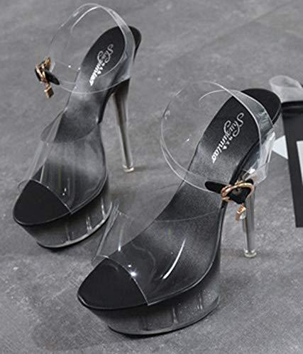 Transparent Talon Bout Aisun Aiguille Ouvert Femme Mode Soir Haut ECCtqF