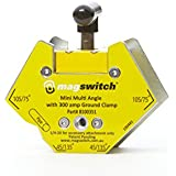 Magswitch - 8100351 Mini Multi Angle w 300amp GC Mini Multi Angle with 200 Amp, Yellow/Silver/Black