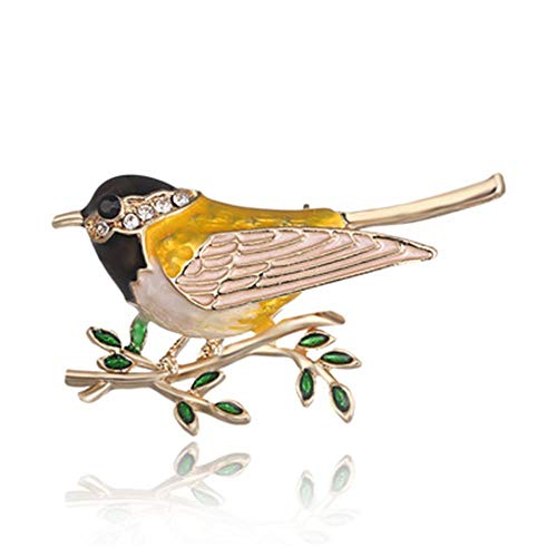 Fashion Large Vivid Bird Animal Gold Vivid Rhinestone Brooch Lapel Pin Crystal -