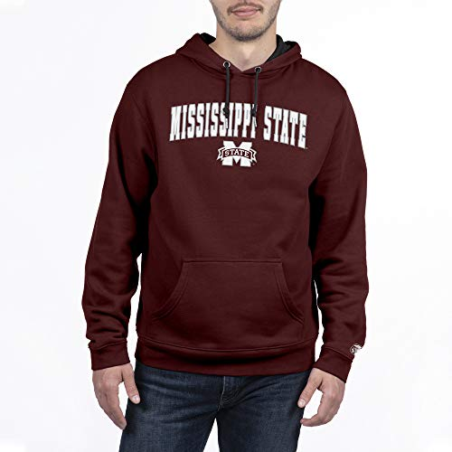 Top of the World Mississippi State Bulldogs Men's Hoodie Applique Arch, Maroon, Medium (The University Of Mississippi Sports Team Name)