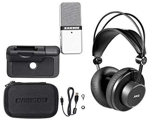 AKG K245 Over-Ear Recording Studio Monitor Headphones+USB Microphone+Case