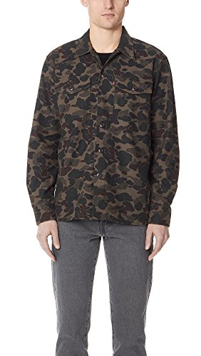 Mens Levis Red Tab (Levis Red Tab Men's Camo Military Shirt Jacket, Camo, X-Large)