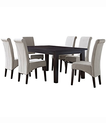 Simpli Home 7 Piece Avalon Dining Set, Natural - Simpli Home Avalon Desk