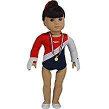 "Ebuddy Sports Gymnastics Outfits Sets Doll Clothes Shoes for 18"" American Girl"