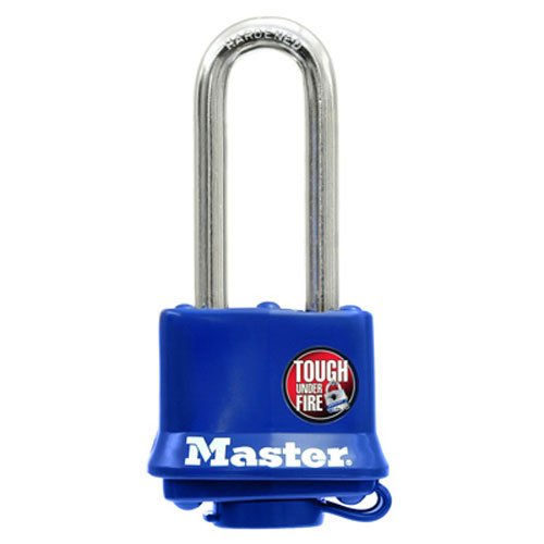 Master Lock 312DLH Laminated Steel Pin Tumbler Padlock, Blue
