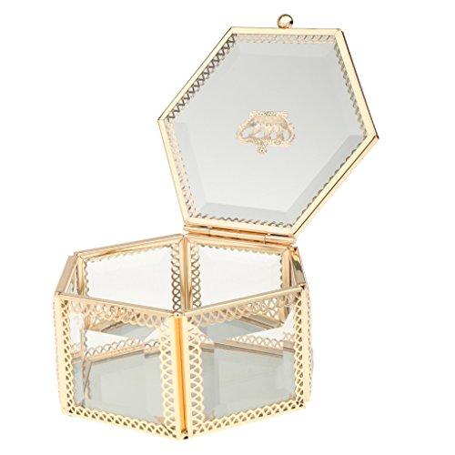 Glasschmuck Ring Ohrring Sechskant Schmuckschatullen Speicher Organisator