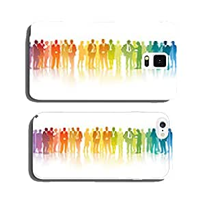 Colorful businesspeople cell phone cover case iPhone5