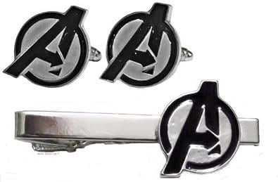 Marvel Comics Los Vengadores Logo en color plateado corbata Clip ...