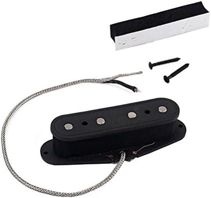 ULTNICE Recogida de bobina simple Piezas de repuesto de guitarra de placa de puente de guitarra eléctrica para 4 cuerdas Guitarra de caja de cigarro bajo