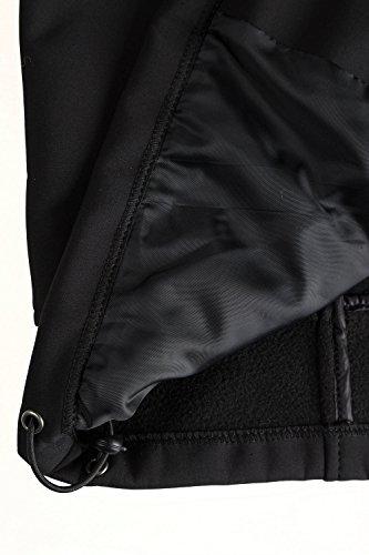 JP 1880 Herren große Größen Softshelljacke, warmes Fleecefutter, Stehkragen mit Kontrastband schwarz 7XL 702616 10-7XL