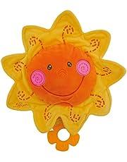 Bieco Musik musiklåda sol, Ø 27 cm/baby musik/spädbarn sov hjälpmedel barn/spädbarn musik/speldosa baby/spädbarn sömn/gosiga leksaker för spädbarn/babyleksak från 0 månader