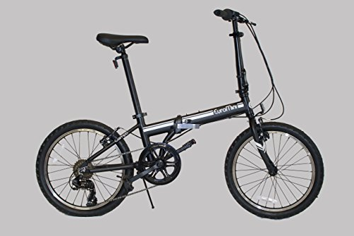 Cheapest Prices! EuroMini Campo Lightweight Aluminum Frame Shimano 7-Speed 28lb Folding Bike 20-Inch